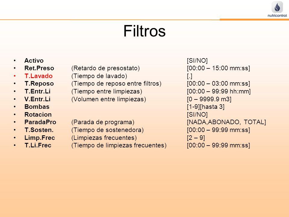 Filtros Activo [SI/NO]
